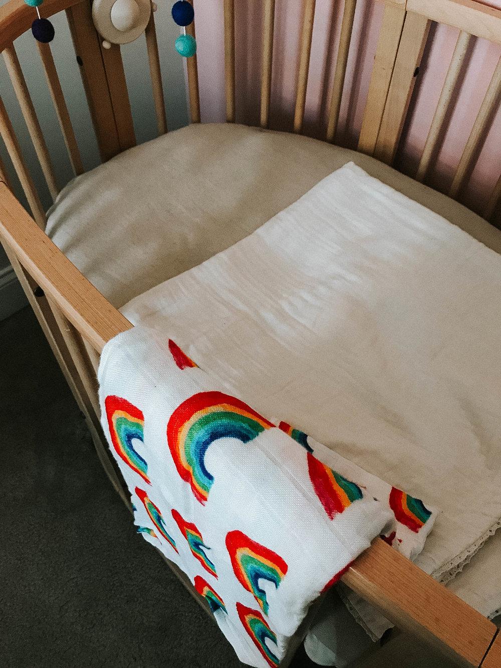 this   rainbow blanket.