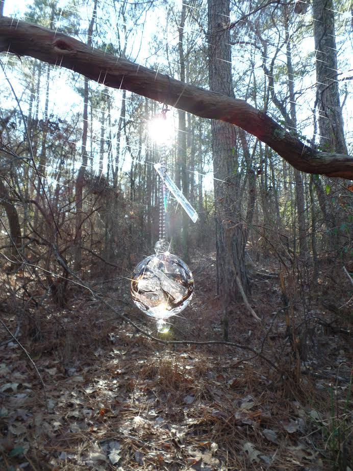 Glass Orb with Cremated Remains of Abandoned Dog