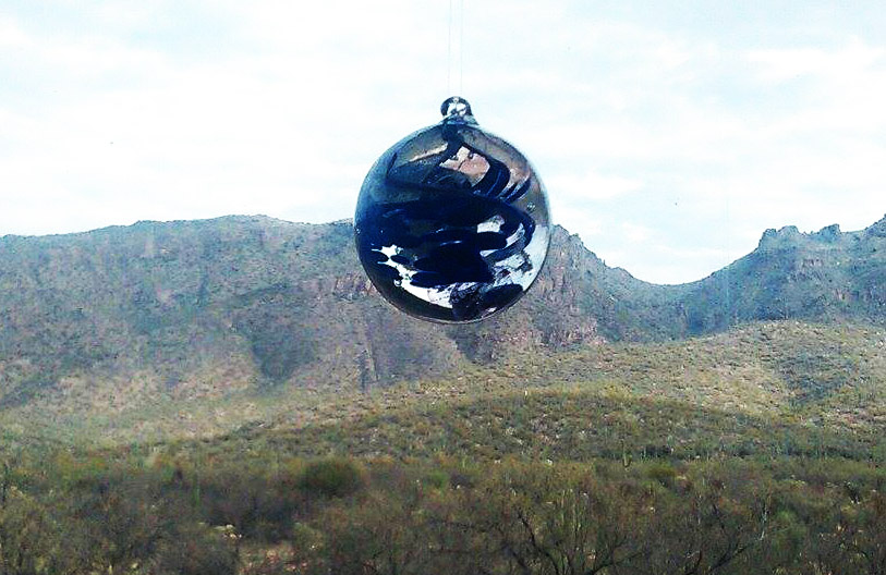 In loving memory of M.D's Mom, this Spirit Piece Orb overlooks the Nevada Foothills