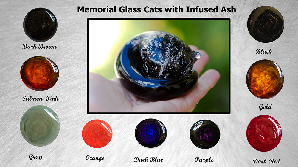 Color chart of our memorial glass cats
