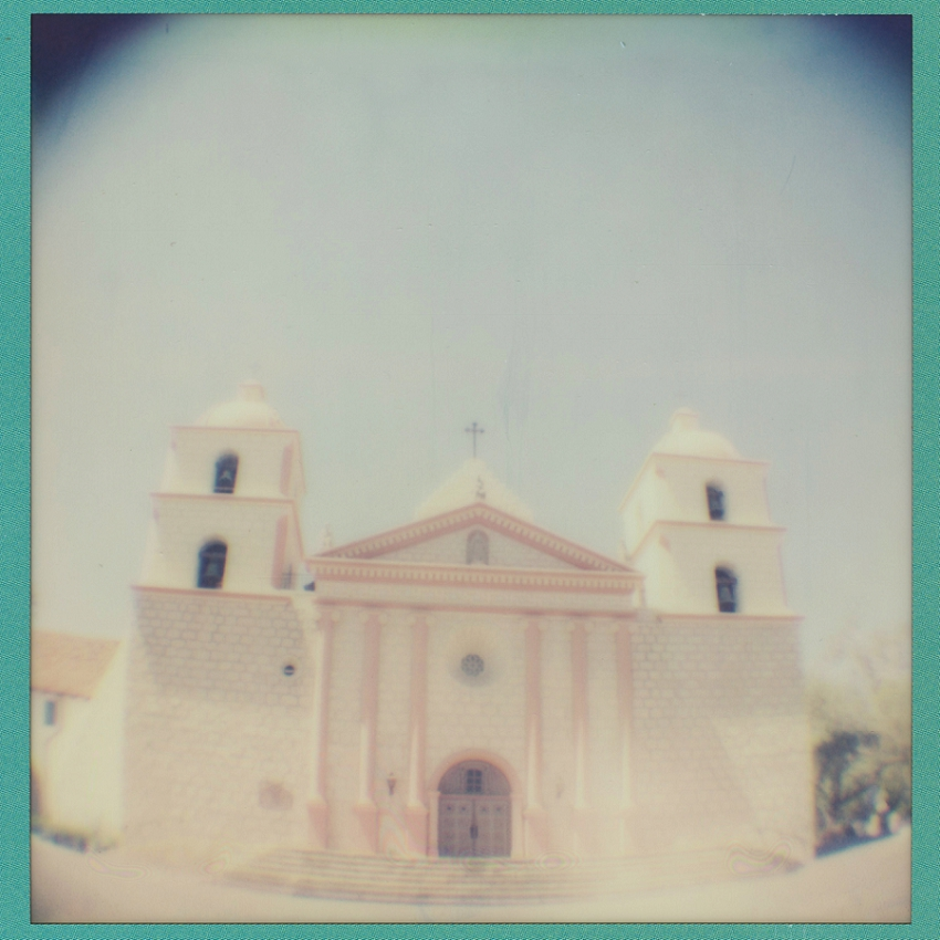 Old Mission, Santa Barbara CA (fish eye)