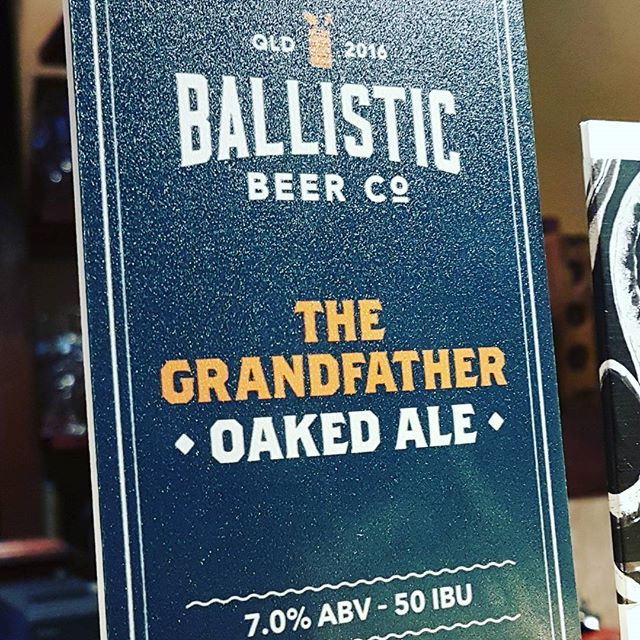 Come get Ballistic at The Pot Belly! The Grandfather Oaked Ale is high octane yet smooth winner. #ballisticbeer #potbellybar #belconnen #canberracraft #craftnotcrap #craftbeer #forthepeople