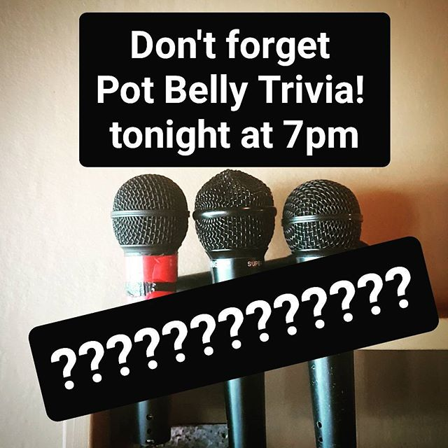 Pot Belly Trivia tonight from 7pm! #trivia #trivianight #potbellybar #uselessfacts #craftnotcrap #belconnen #brewpub #craftbeer #handsomequizmaster