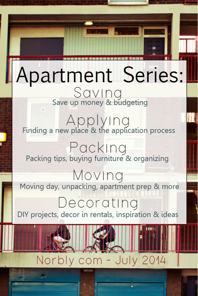 This apartment series will cover everything from finding your apartment to decor once you move. Perfect for your first apartment or a college apartment. How to save & budget, step by step application process, packing tips, moving tips and decorating tips & inspiration. Everything you need to know about an apartment on one blog.