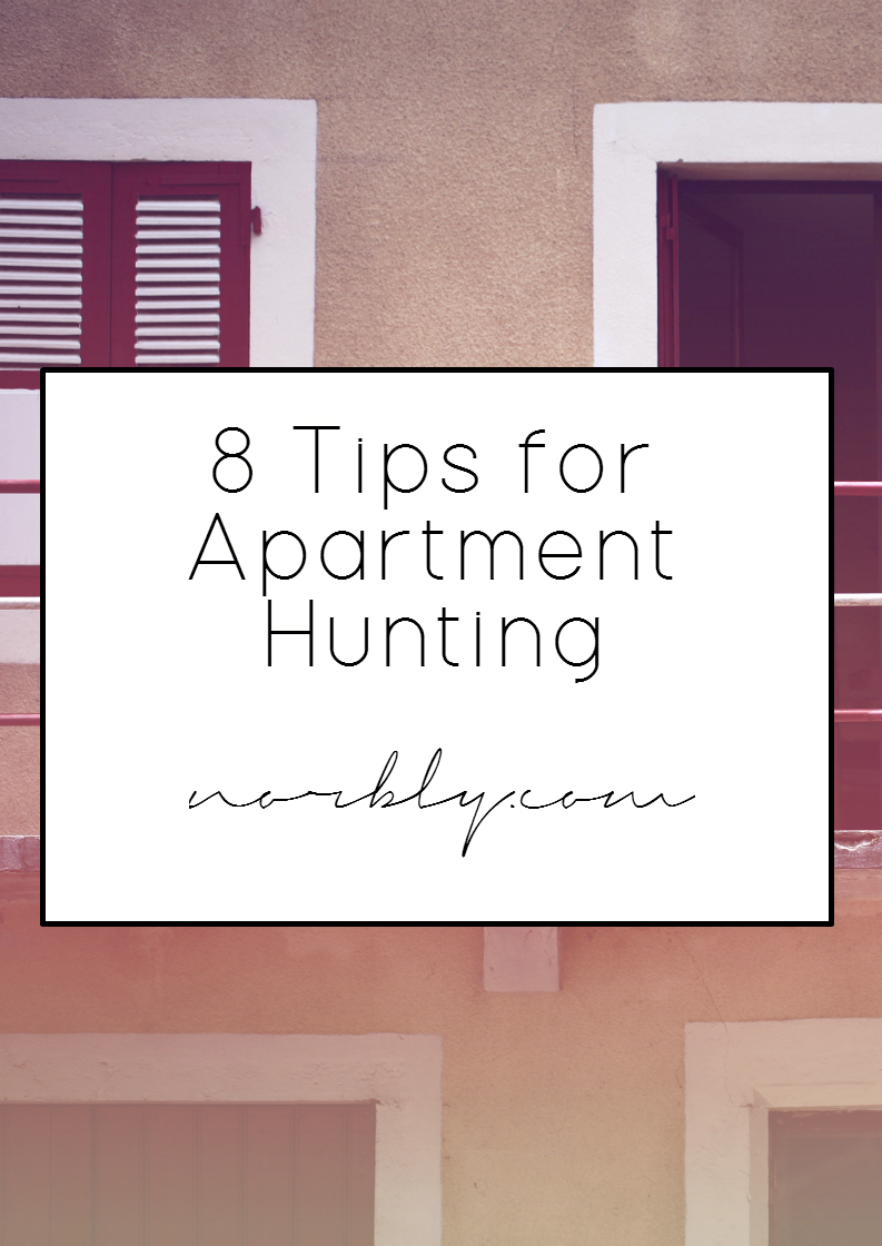 Hunting for an apartment? These 8 tips will help you start out or narrow your search. Along with more posts to help you hunt, plan and move.