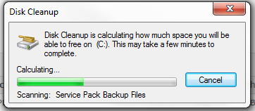 disk cleanup step 1