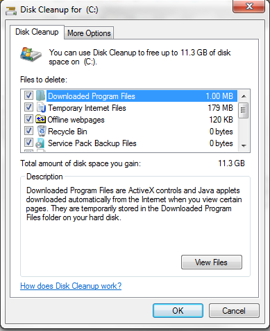 disk cleanup step 2