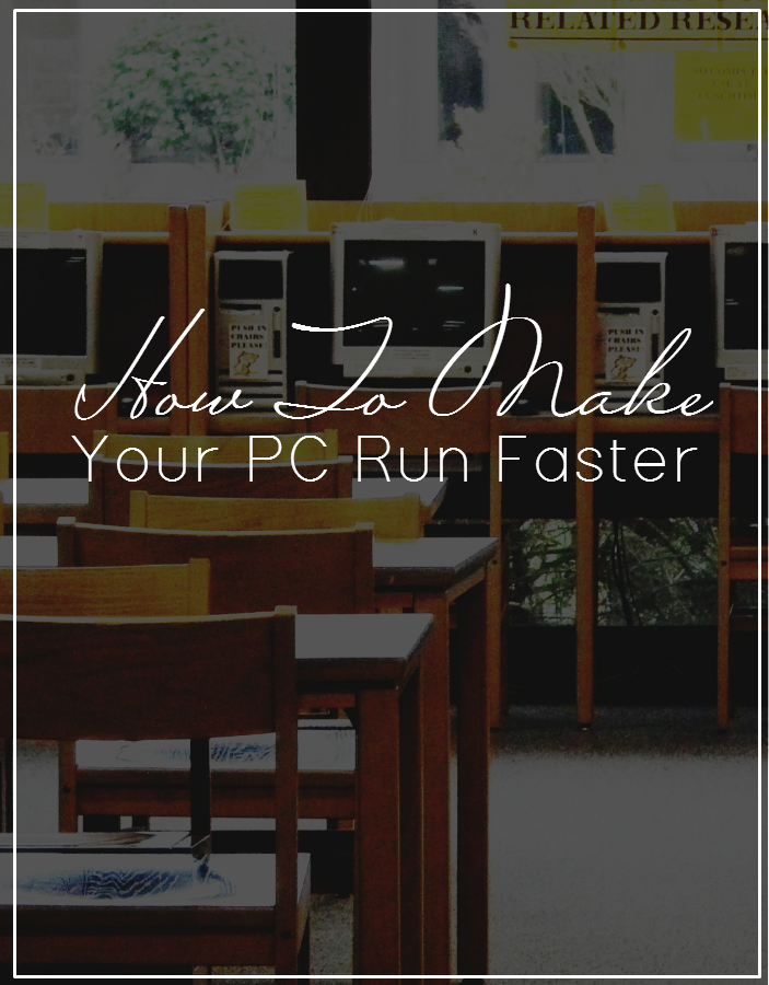 Update, clean up and organize your PC so it'll run faster. This simple step-by-step guide will have your laptop running like new!