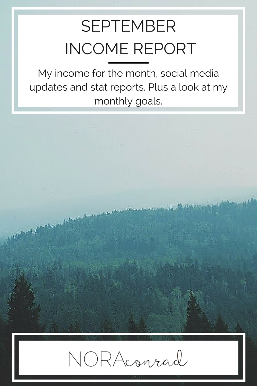 My monthly income, expenses, website stats and goals for September 2015.