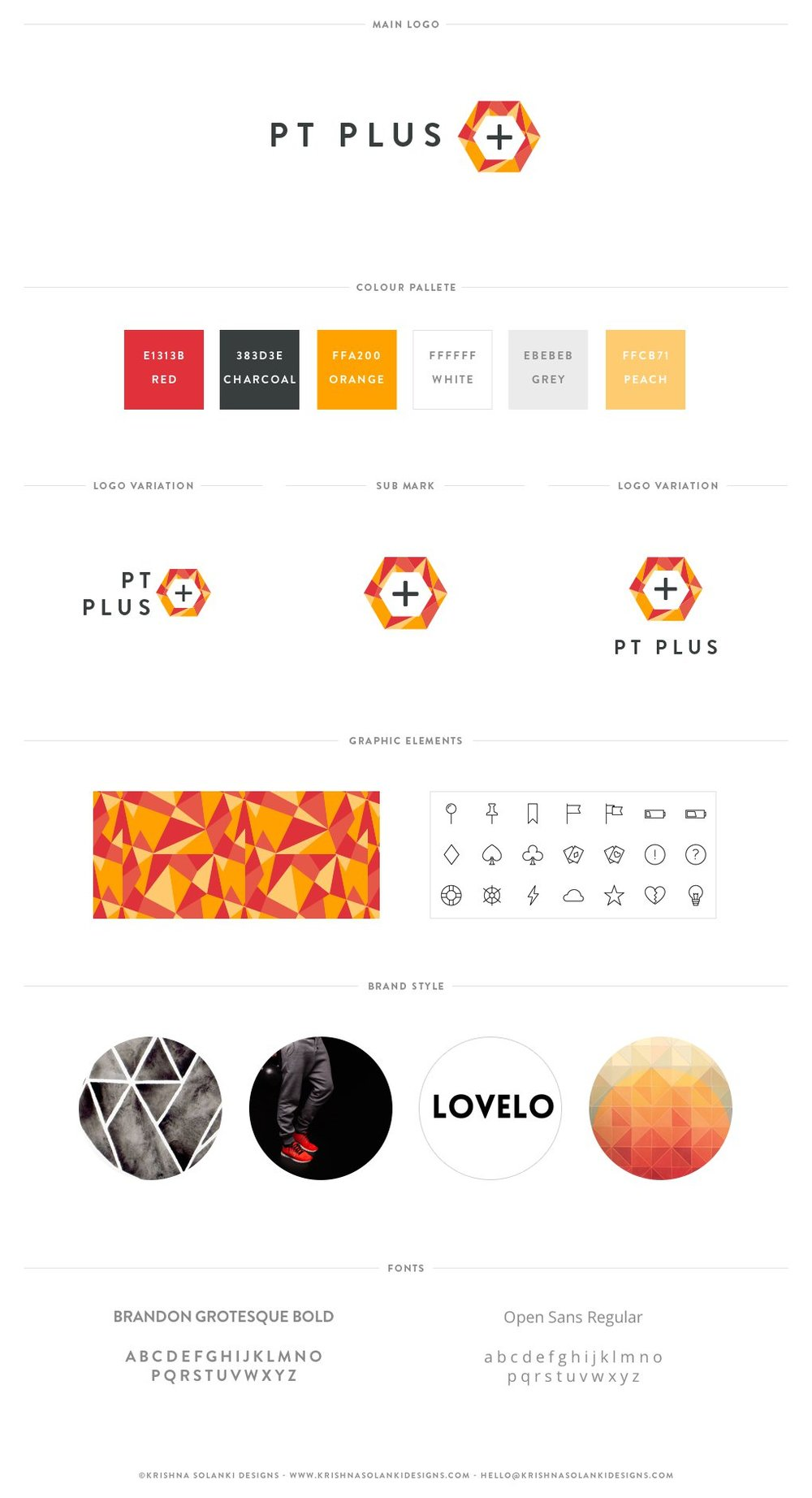 Brand board for PT PLUS
