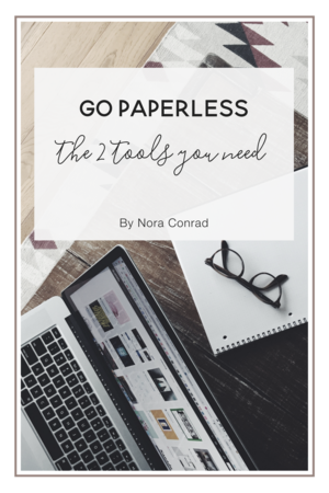 How to go paperless - The 2 important tools you'll need