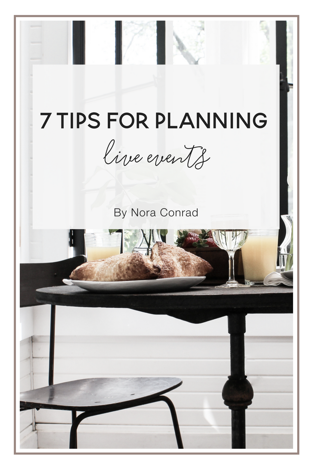 When you are a one-person business, it can be very overwhelming to run your own event. The cost, details, and timeline are just the start. Don't forget all the beautiful Pinterest photos you are tempted to compare yourself to. (PS – do yourself a favour and don't look there first!)