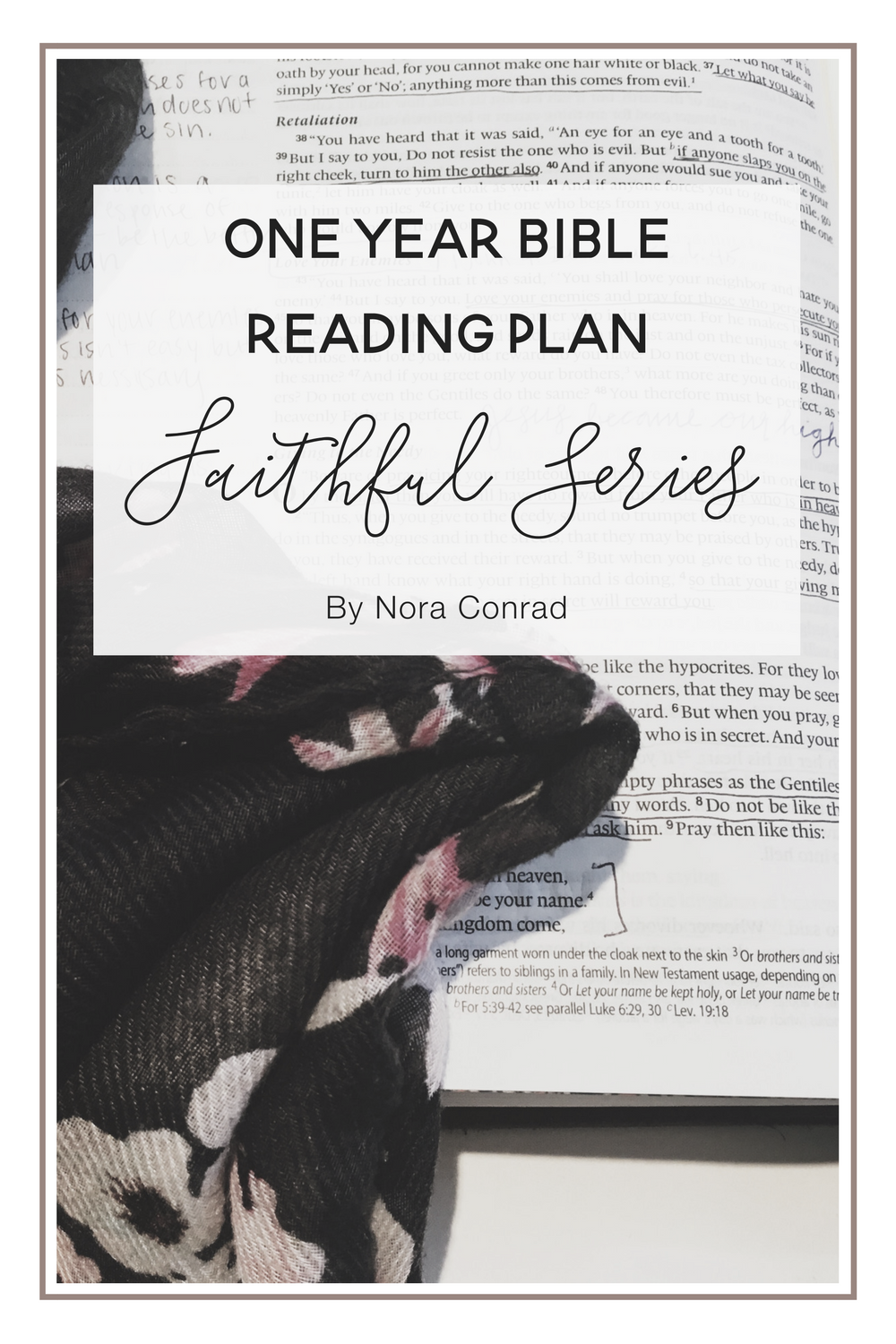 One Year Bible Reading Plan Faithful Series Nora Conrad
