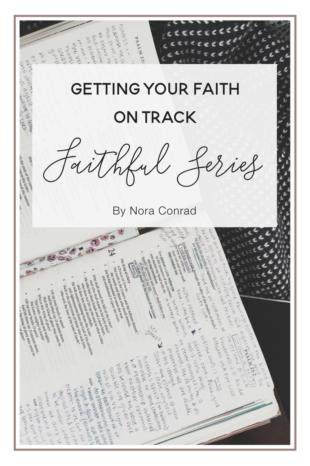 Feeling like you haven't been on the right track with your faith? Here's some ideas to motivate you and put God back into your daily life.