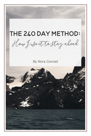 The 240 Day Method: How I use it to stay ahead