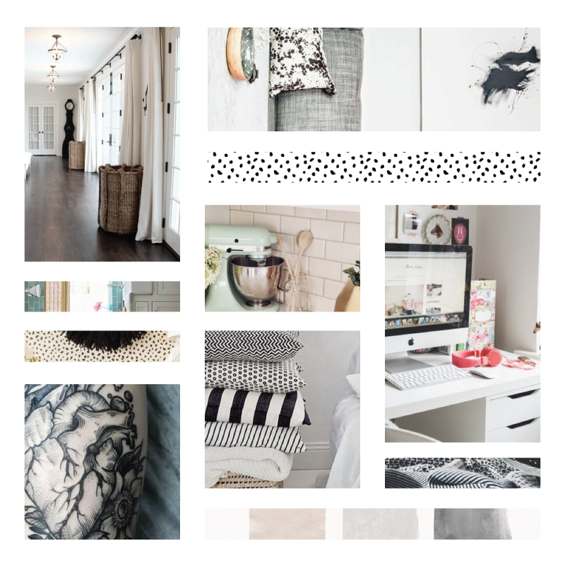 Inspiration Board Template using Pinterest Images and Patterns