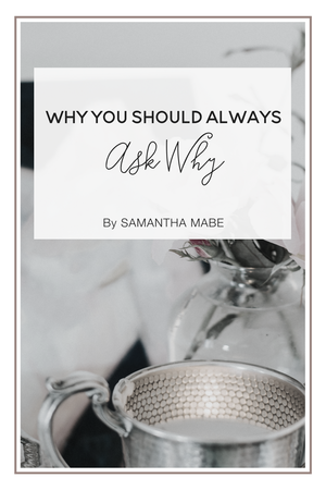 Why You Should Always Ask Why