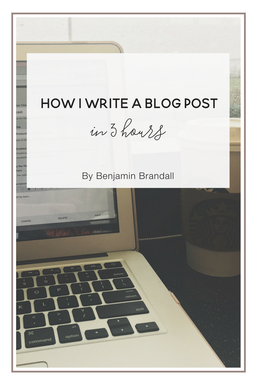 How to write a blog post in 3 hours