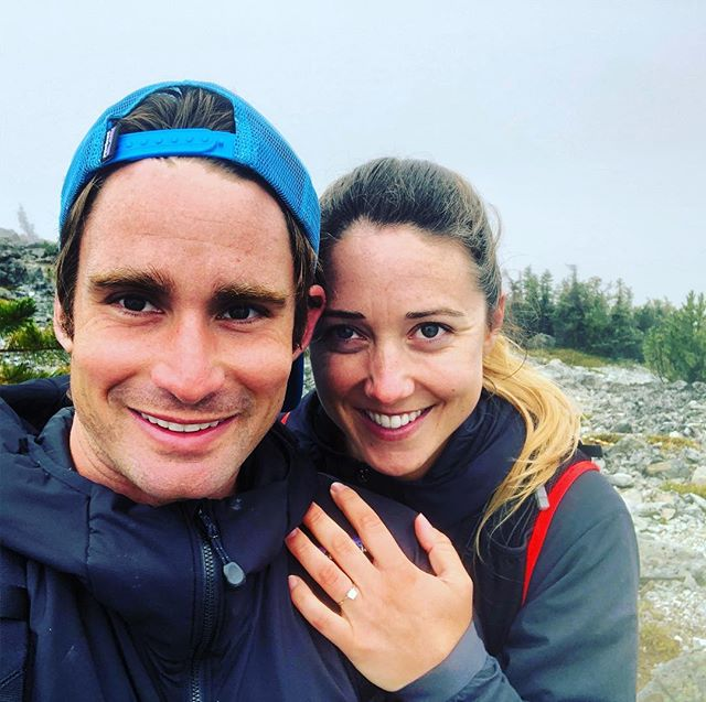 The best part of life is spending time on top of mountains with the one you love:) Many adventures later and I made it official. #engagement #whistler #hiking #running #pnw #beautifulbc #lifepartner #adventures #awesome