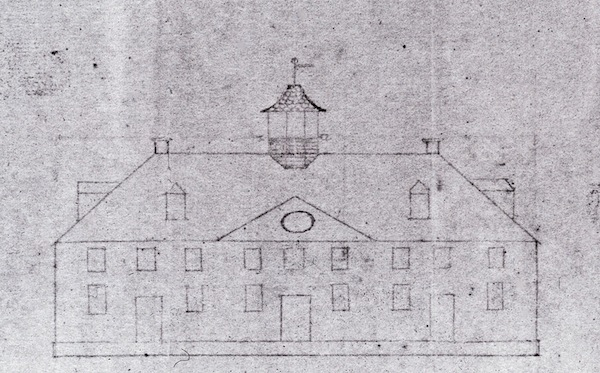 Washington's mansion as approached from the northwest.