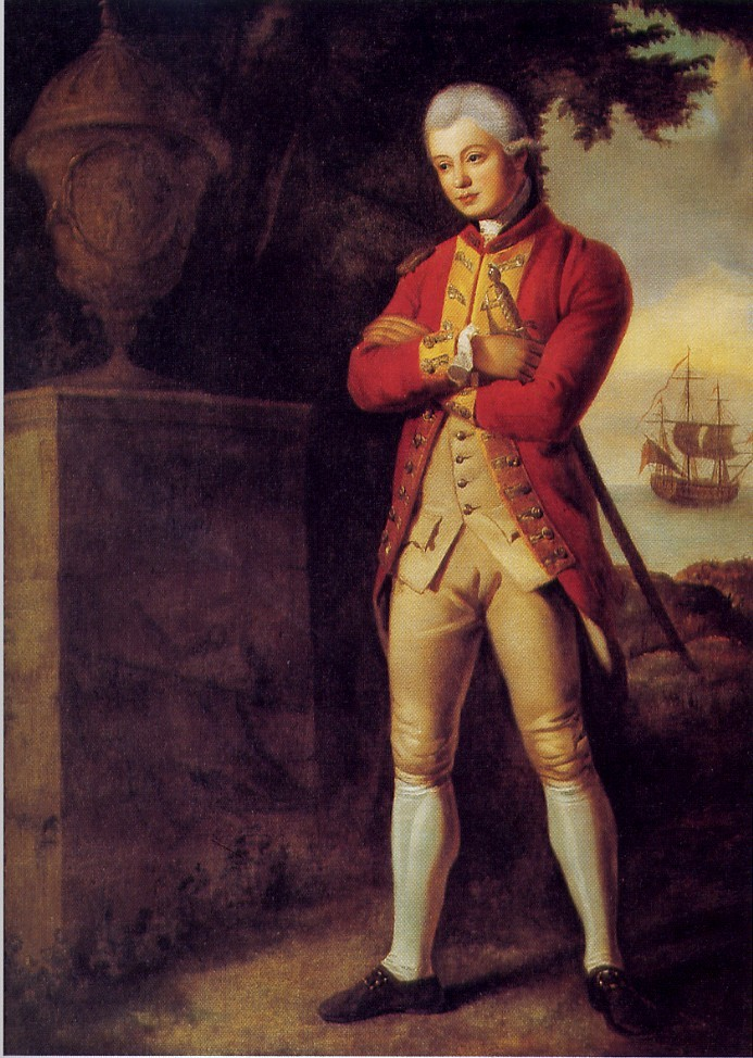 Simcoe as an ensign in the 35th Regiment of Foot, painted in 1770 by William Pars.