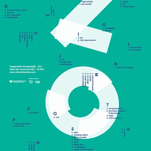We 💙💚 posters, especially when they feature such fab typography!  Unknown designer via @designspiration 🔠