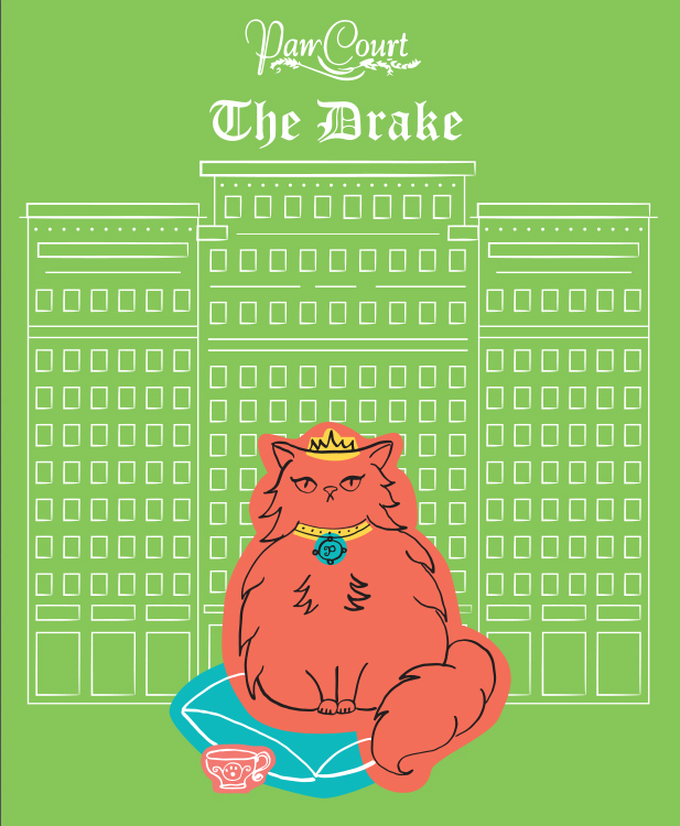 Philippa the Princess Persian visits Paw Court at the Drake.