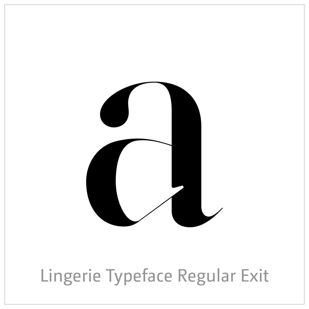 Lingerie Typeface Regular Exit