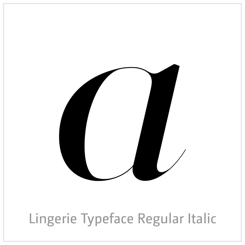 Lingerie Typeface Regular Italic