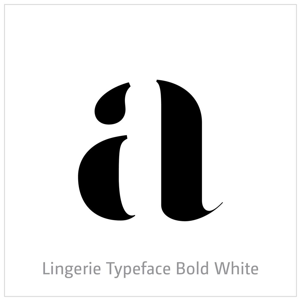 Lingerie Typeface Bold White