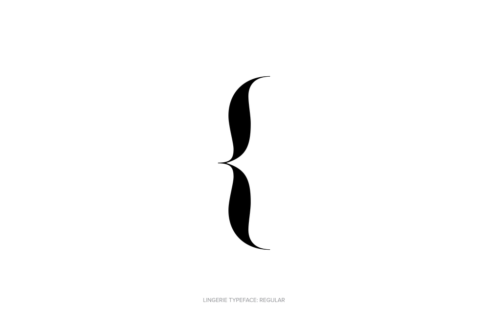 Lingerie Typeface by Moshik Nadav Typography. Font for Fashion.