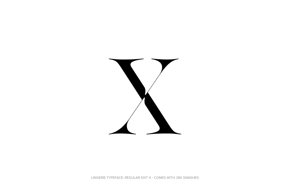 Lingerie Typeface Regular Exit by Moshik Nadav Typography.