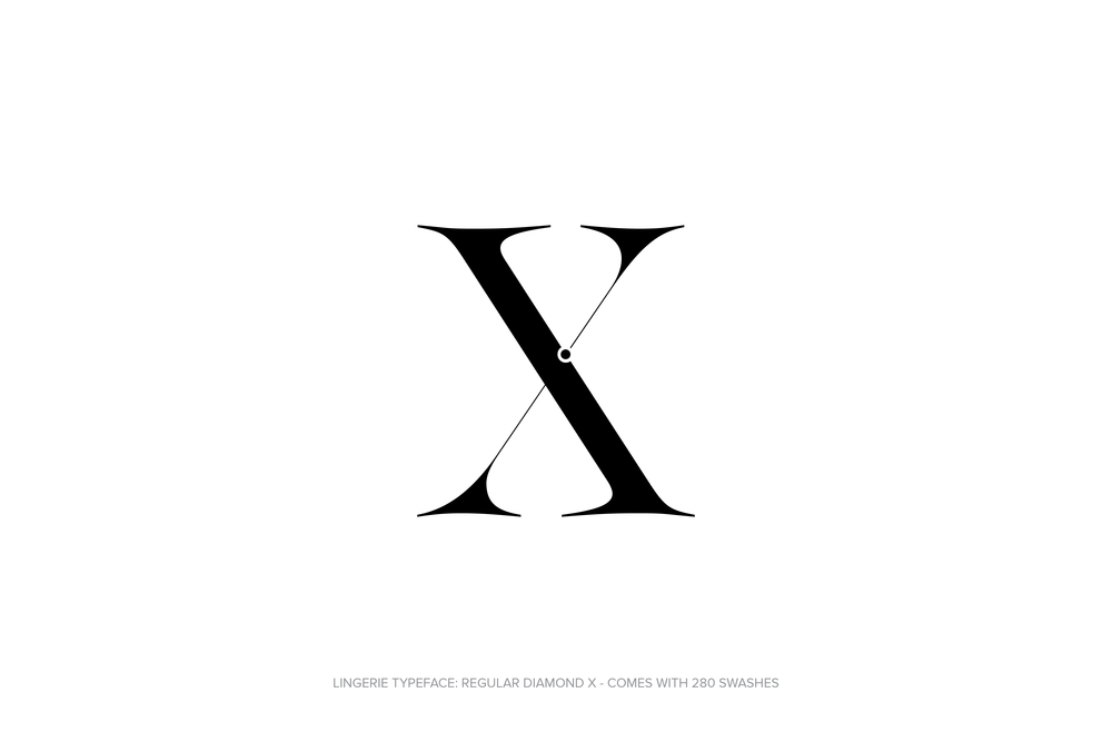 Lingerie Typeface Regular Diamond by Moshik Nadav Typography.