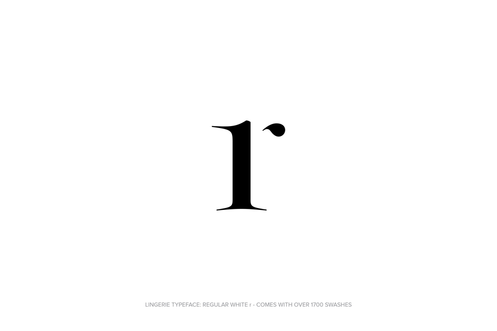 Lingerie Typeface Regular White by Moshik Nadav Typography.