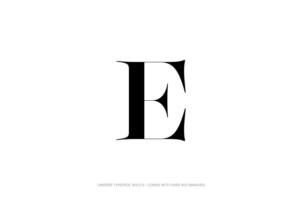 Lingerie Typeface Regular Bold by Moshik Nadav Typography.