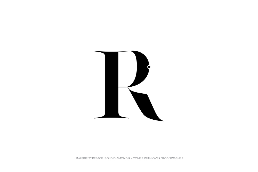 Lingerie Typeface Regular Bold Diamond by Moshik Nadav Typography.