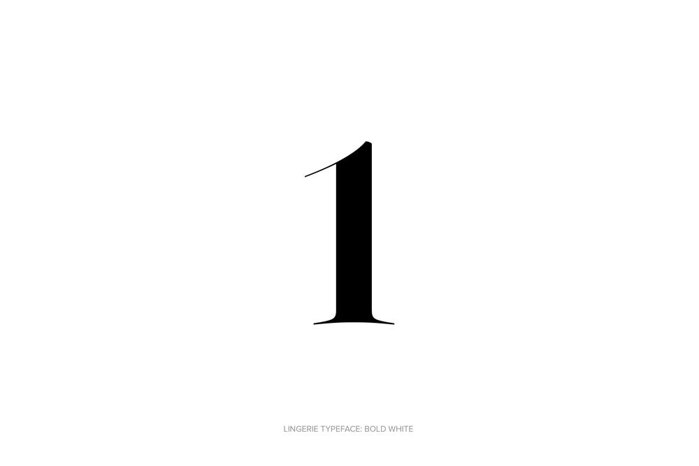 Lingerie Typeface Regular Bold White by Moshik Nadav Typography.