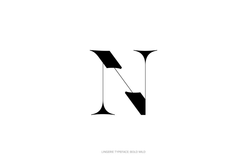 Lingerie Typeface Regular Bold Wild by Moshik Nadav Typography.