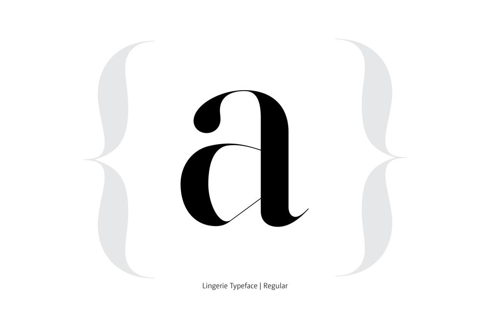 Lingerie Typeface Regular style by Moshik Nadav Typography