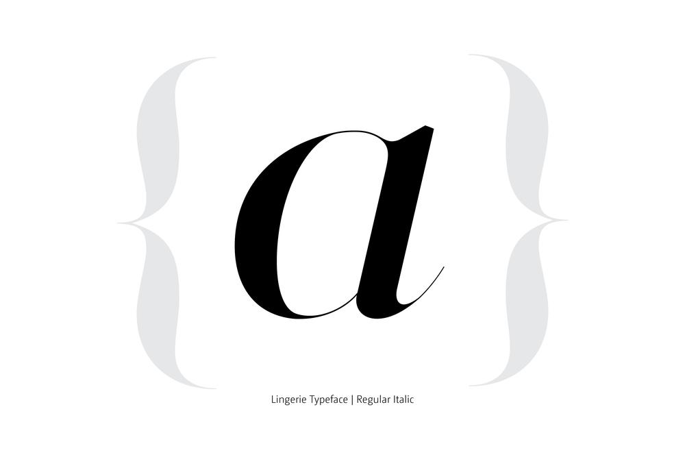 Lingerie Typeface Regular Italic style by Moshik Nadav Typography
