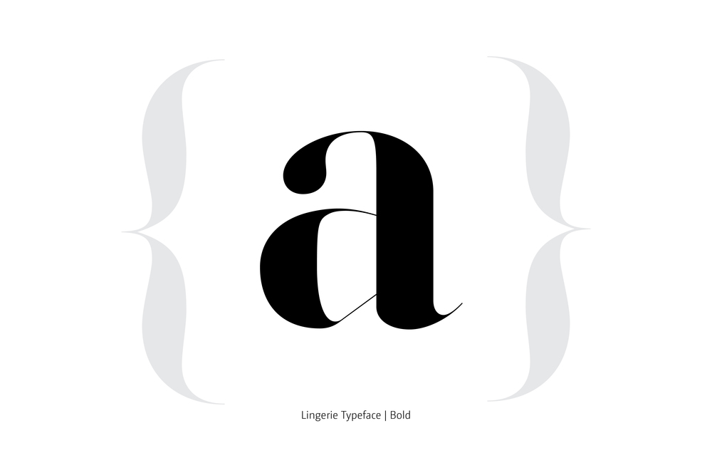 Lingerie Typeface Bold by Moshik Nadav Typography