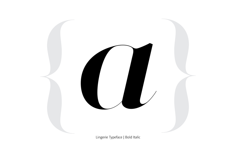 Lingerie Typeface Bold Italic