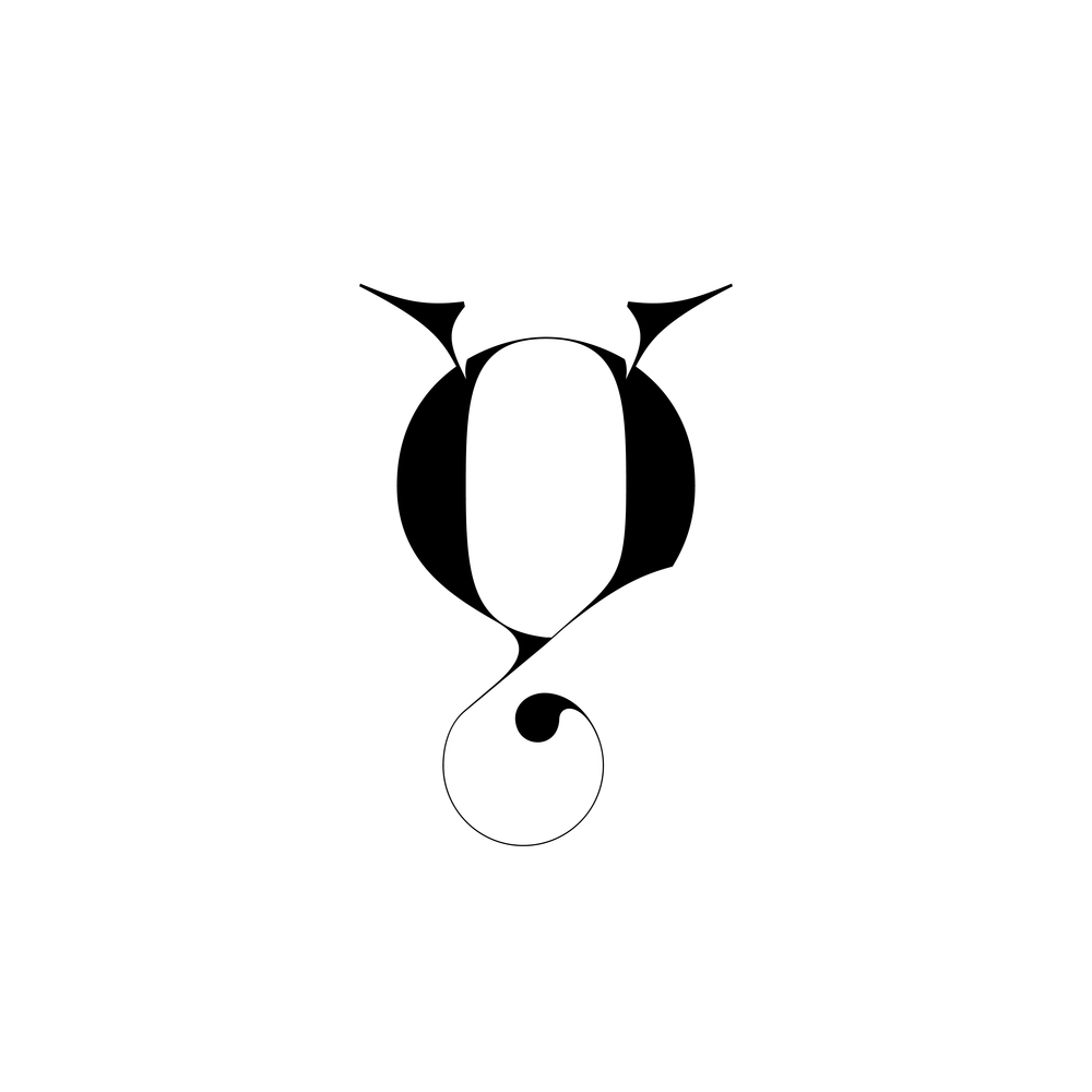 Lowercase q - Experimental typography by Moshik Nadav