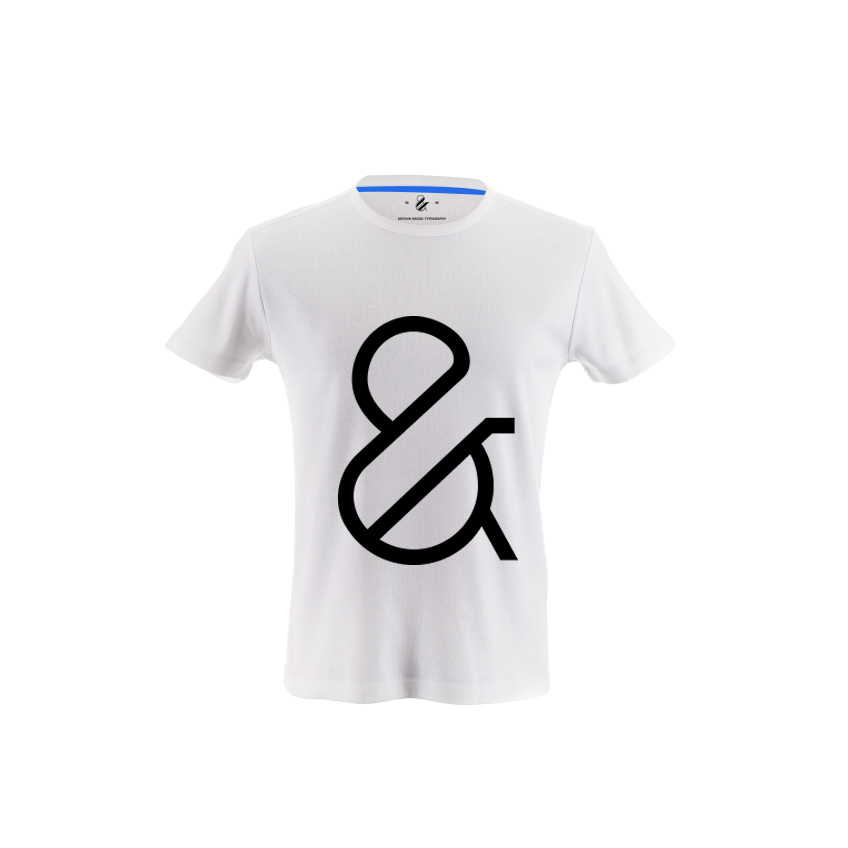 paris pro typeface ampersand t-shirt by moshik nadav typography