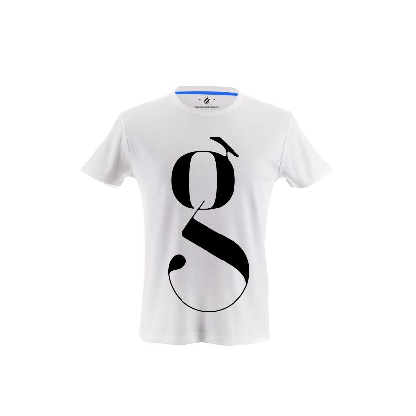 lowercase g typography t-shirt moshik nadav