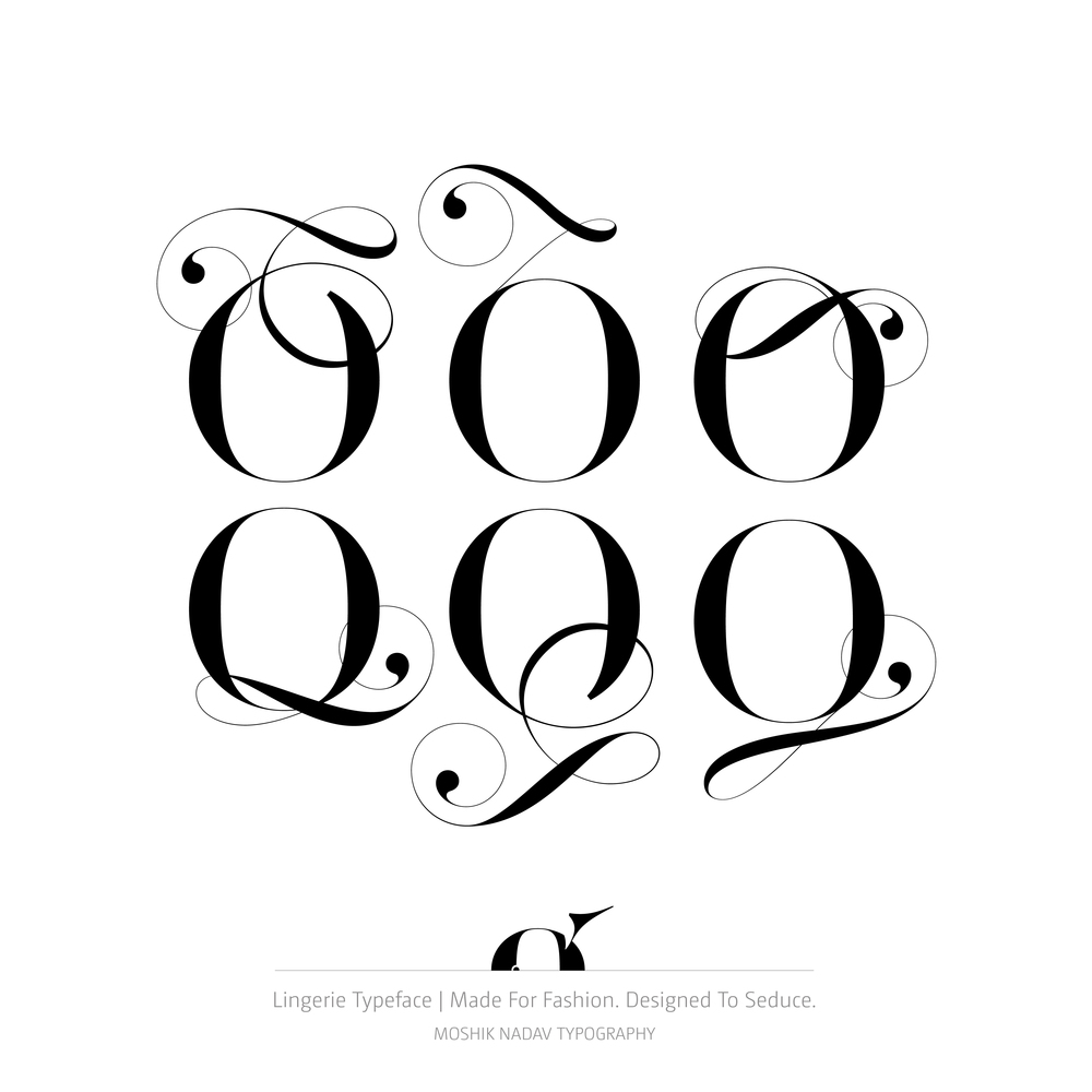 Alternate glyphs made with Lingerie Typeface - Fashion magazine font by Moshik Nadav Typography
