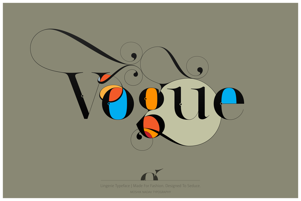 Vogue Typography - Made with Lingerie Typeface - Fashion magazine font by Moshik Nadav Typography