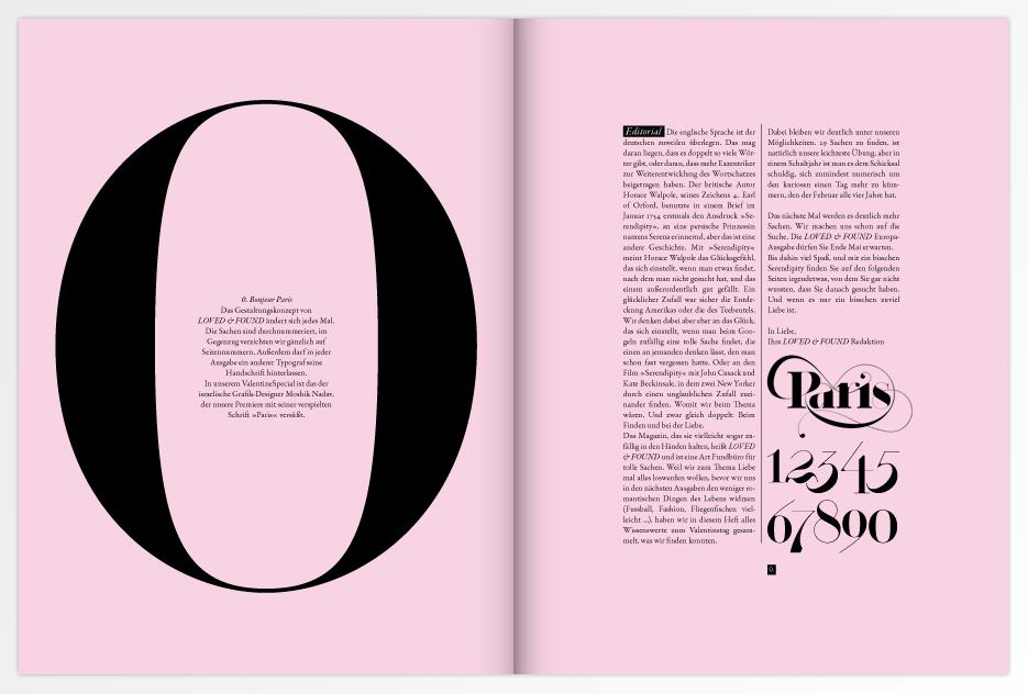 Loved magazine - Paris Typeface
