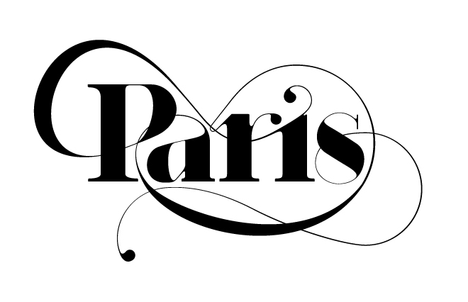 fashion fonts - Paris typeface - moshik nadav typography