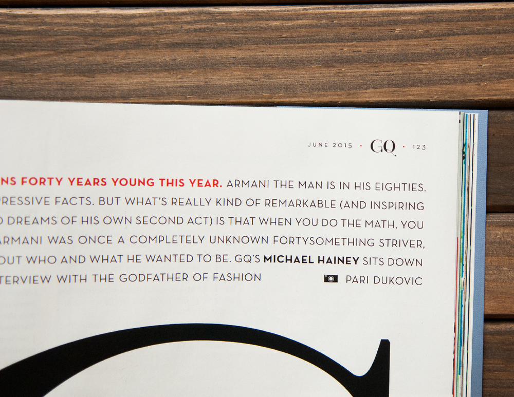 GQ magazine - fashion fonts